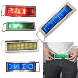 iKKEGOL Programmable Blue DIY Text Name Flash LED Chrome Scr