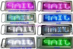 Programmable Scrolling Message Display LED Flash Light Belt