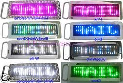 Programmable Scrolling Message Display LED Flash Light Belt
