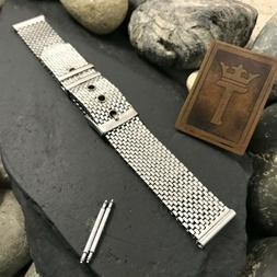 rare 1960s stainless steel mesh belt buckle