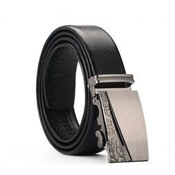 Ratchet Automatic Buckle Men's Leather Dress Belt Leisure Bu