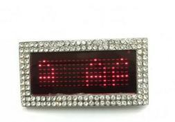 Red Digital LED Programmable Text Screen Belt Buckle Scrolli