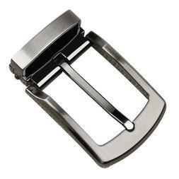 Replacement DIY Men Belt Buckle Clip on Reversible Pin Leath
