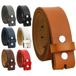 Falari Replacement Genuine Leather Belt Strap Without Buckle