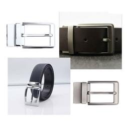 Reversible Alloy Belt Buckle Single Prong Rectangle Pin Buck
