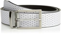 Men's Nike Reversible Leather Belt, Size 32 - Black/ White