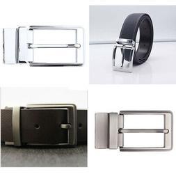 Reversible Single Pin Rectangular Buckle Vintage Belt Buckle