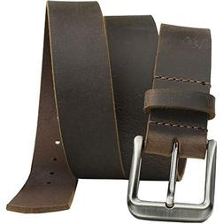 Roan Mountain Distressed Leather Belt - Nickel Smart - Brown