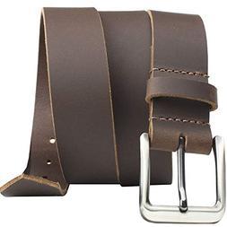 Roan Mountain Leather Belt - Nickel Smart - Brown Genuine Fu