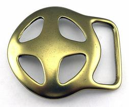 ROUNDED CROSS SOLID BRASS BELT BUCKLE FITS 1 3/4 INCH WIDE B
