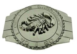 Scorpion Belt Buckle Men Cowboy Texas Us Style Silver Metal