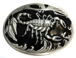 ✖ SCORPION Belt Buckle ✖ Metal Satin nickel/Brushed Silv