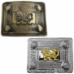 TE Scottish Kilt Belt Buckle Celtic Welsh Dragon Various Des
