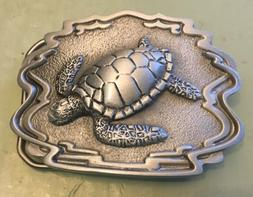 "SEA TURTLE BELT BUCKLE NEW APPROXIMATELY 2 3/4"" X 2 1/8"""