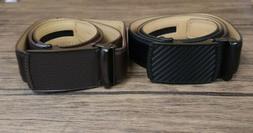 Set of 2 Men's Leather Belts, Black & Brown, Men's Belts w/