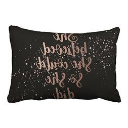 Capsceoll she could so she did rose gold quote Decorative Th