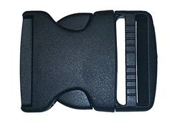 "2"" Side Release Buckle Pack Plastic Black Buckles for Nylon"