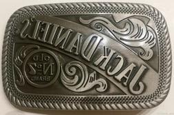 Jack Daniels Silver Pewter Old No.7 Western Cowboy Belt Buck