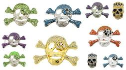 Skeleton Belt Buckle Skulls Crossbones Halloween Costume Wes
