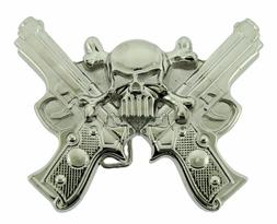 Skull Crossguns Belt Buckles gothic tribal mens western meta