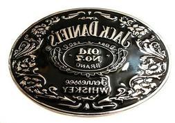 SL1 Jack Daniels Old No. 7 Belt Buckle Western Cowbow black