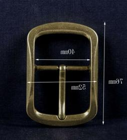 Solid Brass Classic Pin Belt Buckle for Leather Belt Replace