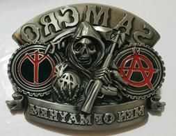 SONS OF ANARCHY SAMCRO MEN OF MAYHEM SKULL BELT BUCKLE US Se