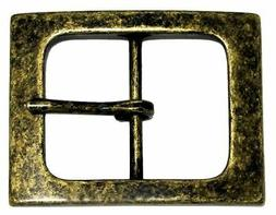 Square Single Prong Center Bar Replacement Belt Buckle 1-1/2