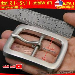 "Stainless Steel Belt Buckle for Mens Belt Leather 1 1/2"" 38m"
