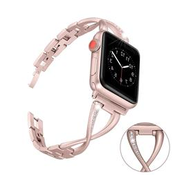 Stainless Steel Women Watch band Strap for Apple Watch 38mm/