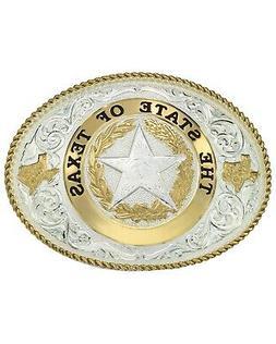 Montana Silversmiths State of Texas Star Seal Western Belt B