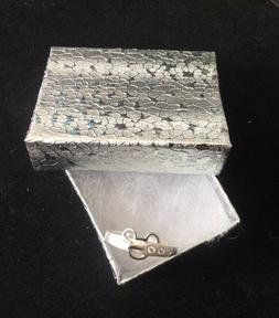 "Sterling Silver .925 Mickey Mouse "" Belt Buckle""  w/2 Cz Rin"