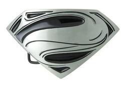 superman black silver logo metal belt buckle