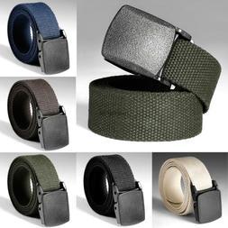 Tactical Adjustable Survival Solid Nylon Outdoor Waist Belt