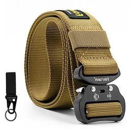 Fairwin Tactical Belt for Men, Military Style Rigger Belt wi