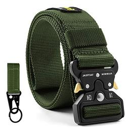 Fairwin Tactical Belt for Men, Military Style Nylon Web Belt