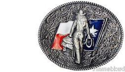 Texas Flag Cowgirl Up Belt Buckle Southern Cowboy attire Mus