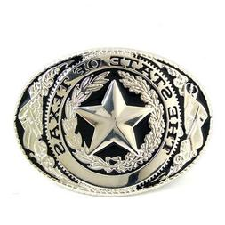 The State Of Texas Black Silver Logo Texas Seal Western Belt