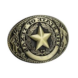 The State of Texas Star Men Western Belt Buckle Replacement