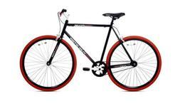 Thruster 700C Urban Fixie Bike Black / Red