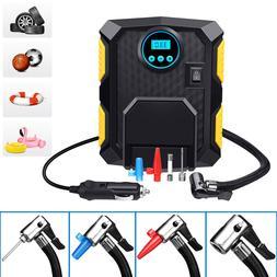 Digital Car Tire Inflator Pump Portable Air Compressor Elect