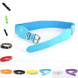 Toddler Baby Candy Color Waist Belt Buckle PU Leather Kids G