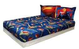 Twin Size Superman Man of Steel Bed Sheet Set