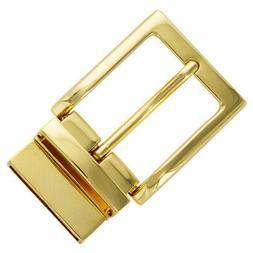 """Twist Belt Buckle Gold Plated Reversible Buckle fits 1-3/8"""""""