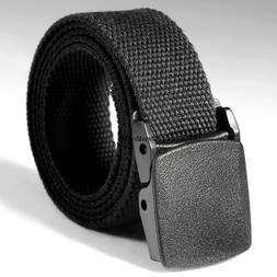 Unisex Elastic Belt Buckle Adjustable Waist Belt Waistband M