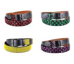 Unisex Studs Belt Leather Belt Buckle Multi Color Pyramid Pu