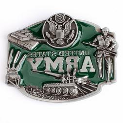United States Army Men's Belt Buckles for women Cowboy Nativ