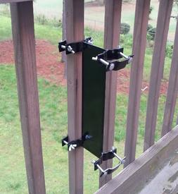 Universal Pole Mount - Clamp-on Deck Rail or Fence