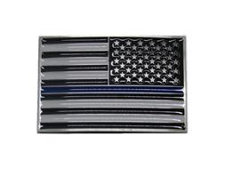 USA American Thin Blue Line Police Officers Memorial Rectang