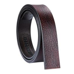 USA Brown Mens Replacement Belts Full Grain Leather Ratchet